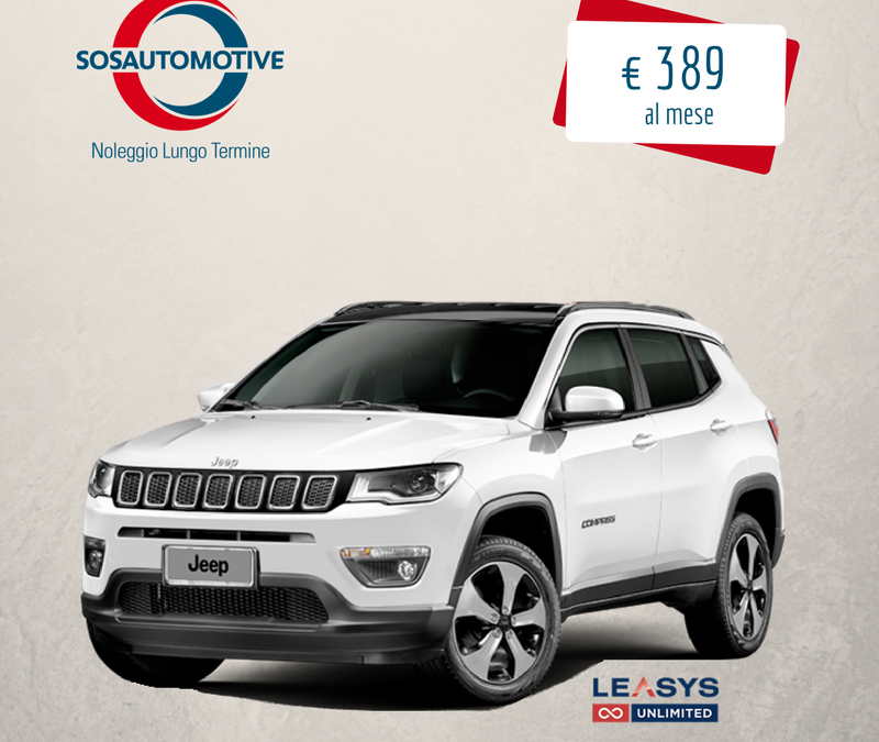 JEEP COMPASS LIMITED CON FORMULA LEASYS UNLIMITED!