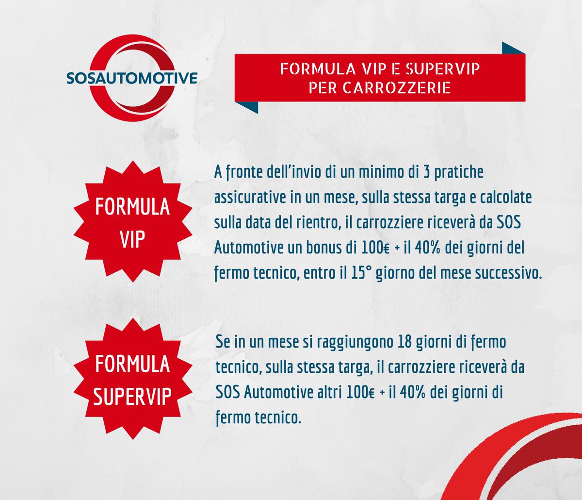 Formule VIP e SUPERVIP SOS