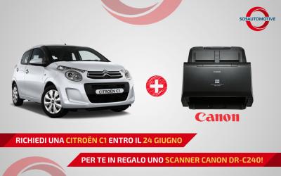 PROMO CITROËN C1 + SCANNER CANON DR-C240 per AUTORIPARATORI!
